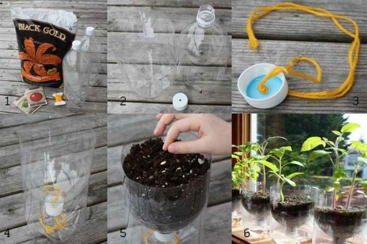 Как можно использовать на даче пластиковые бутылки? 3