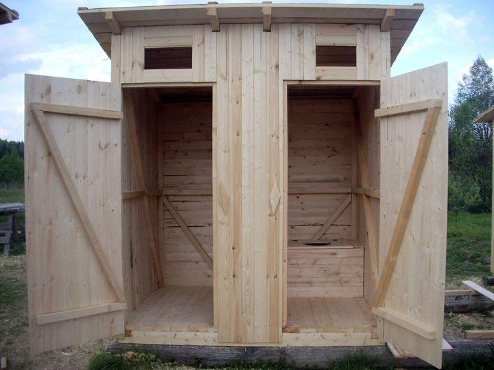 Как построить дачный туалет своими руками 3
