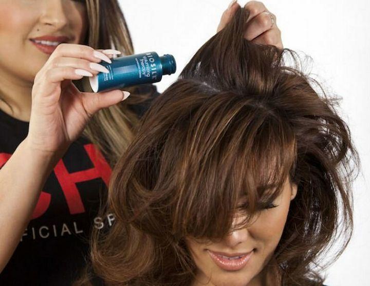 Как увеличить объем волос с помощью мусса 2