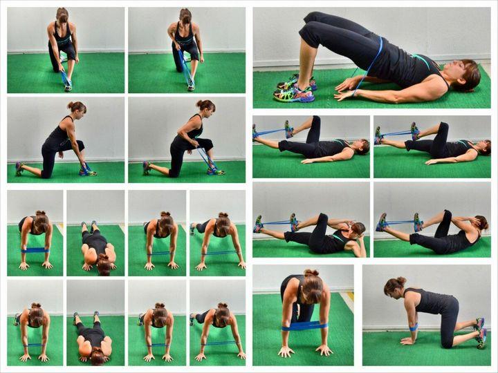 Комплекс упражнений с фитнес-резинкой 12