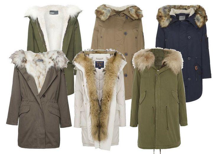 Модные модели зимней парки 14