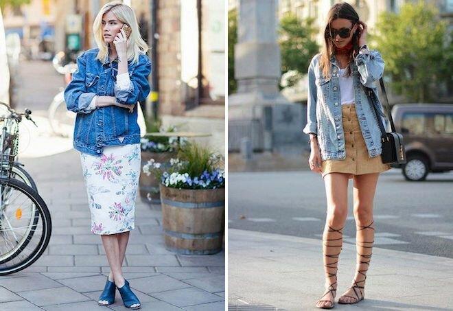 Модные образы с джинсовкой на осень 7