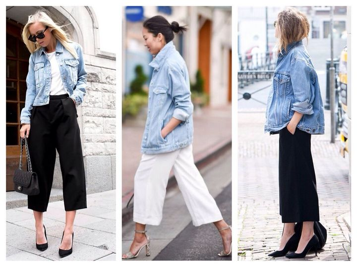 Модные образы с джинсовкой на осень 6