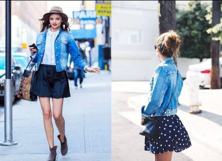 Модные образы с джинсовкой на осень 8