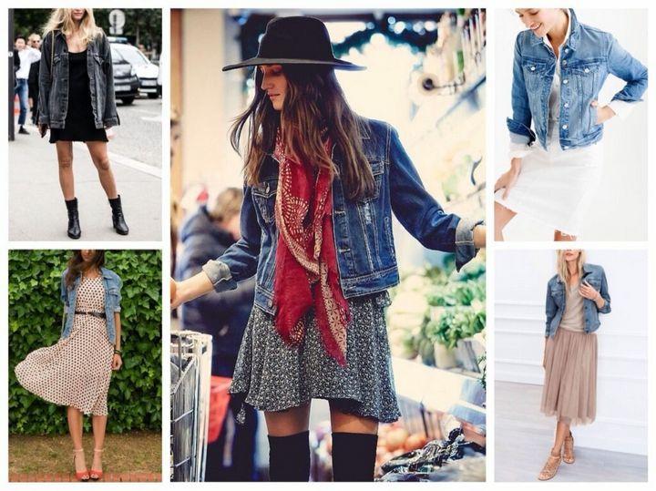 Модные образы с джинсовкой на осень 3