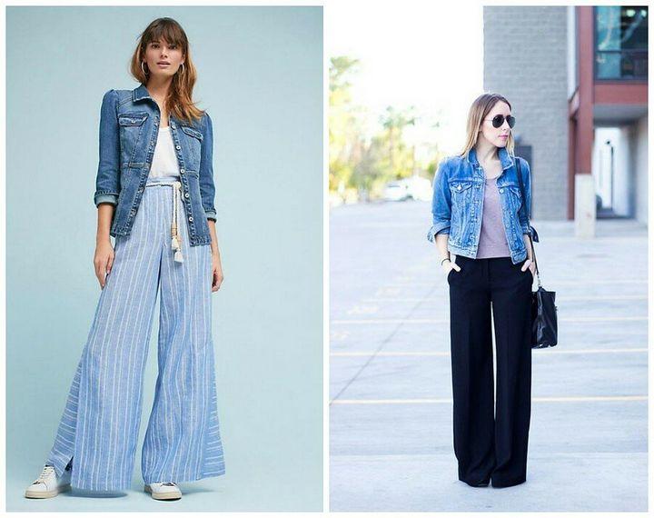 Модные образы с джинсовкой на осень 5