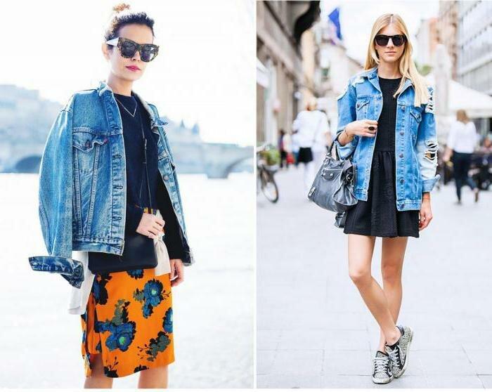 Модные образы с джинсовкой на осень 1