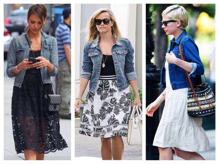 Модные образы с джинсовкой на осень 9