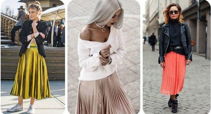 Модные образы с юбкой 2019 17