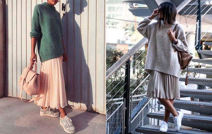 Модные образы с юбкой 2019 21