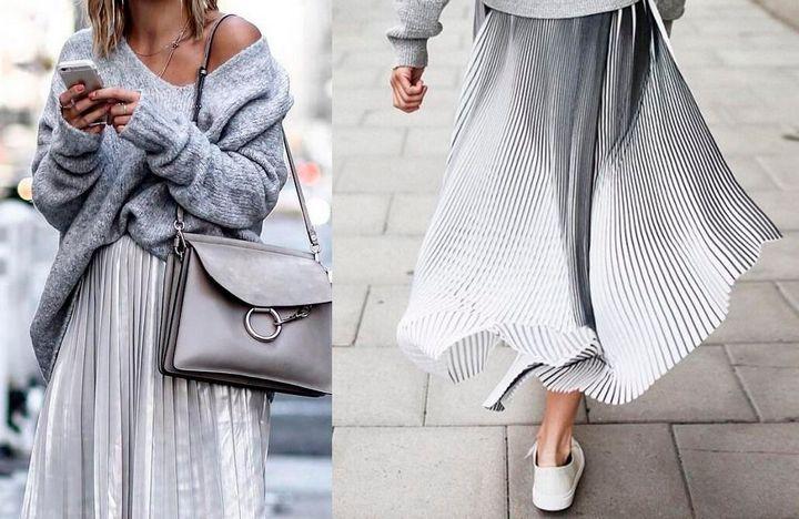 Модные образы с юбкой 2019 18
