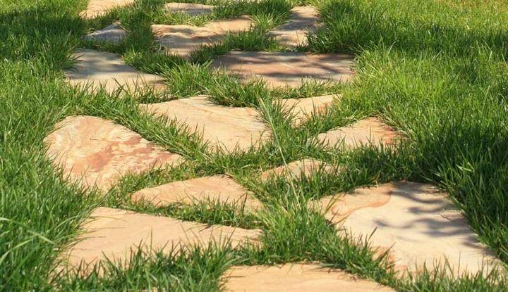 Нетрудные методы избавления от травы на садовых дорожках 1