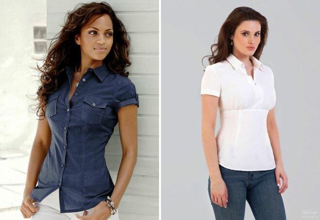 Образы: рубашка с коротким рукавом 4