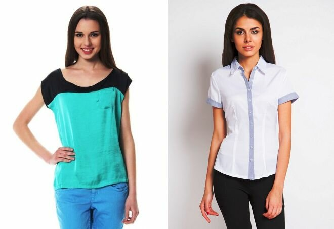 Образы: рубашка с коротким рукавом 6