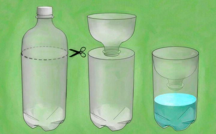 Польза от пластиковых бутылок на даче 4
