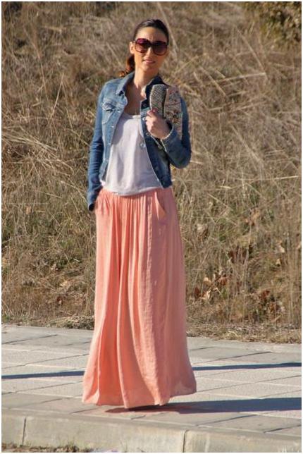 С чем носить длинную юбку 4