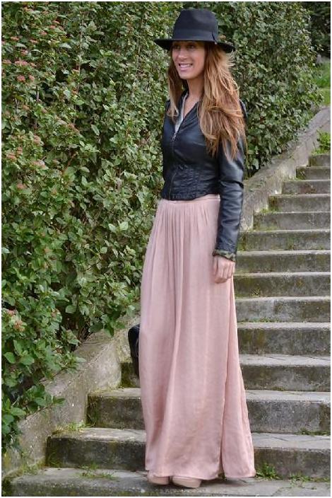 С чем носить длинную юбку 5