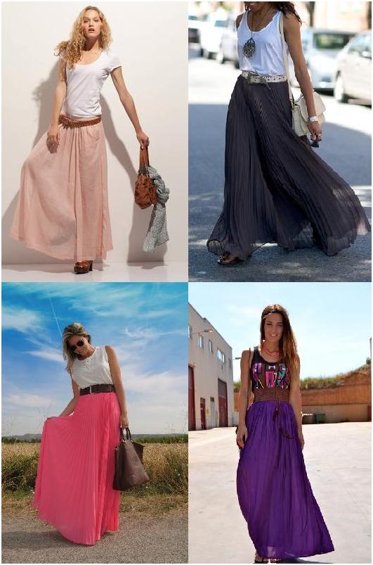 С чем носить длинную юбку 6
