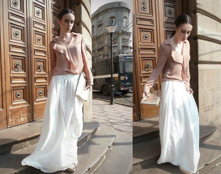С чем носить юбку - макси? 13