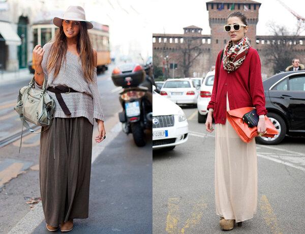 С чем носить юбку - макси? 5