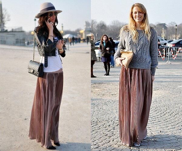 С чем носить юбку - макси? 9