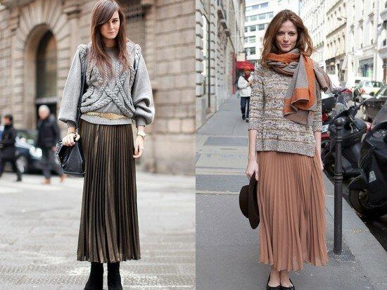 С чем носить юбку - макси? 6