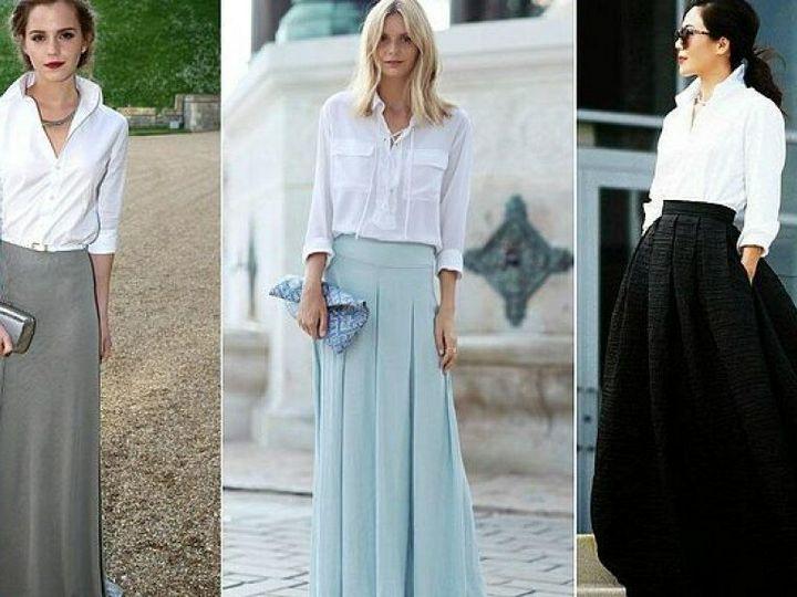 С чем носить юбку - макси? 2