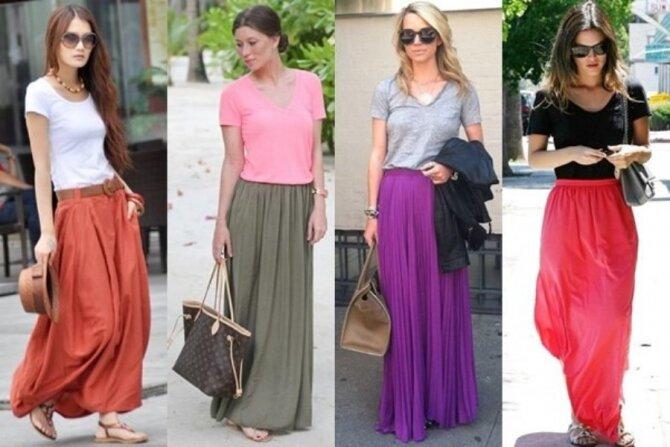 С чем носить юбку - макси? 10