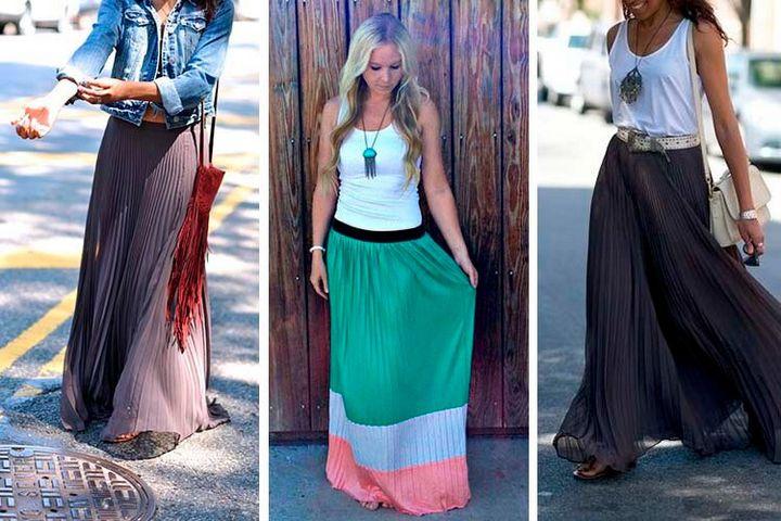 С чем носить юбку - макси? 11