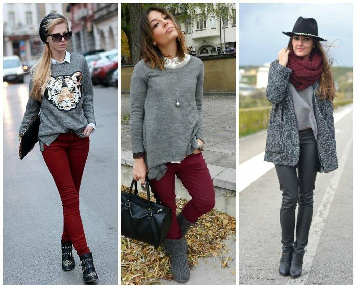 Сочетание в одежде серых оттенков 15