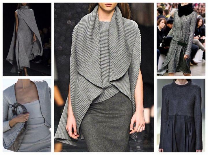 Сочетание в одежде серых оттенков 7