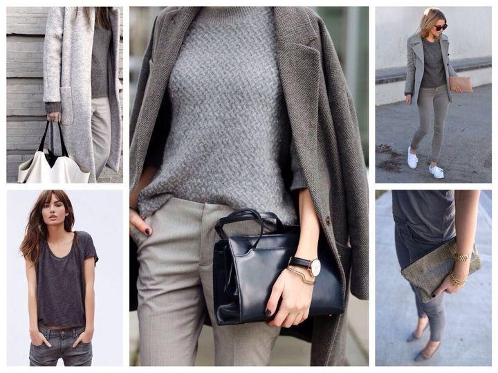 Сочетание в одежде серых оттенков 20