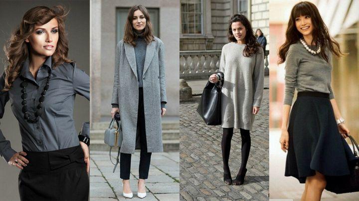 Сочетание в одежде серых оттенков 5