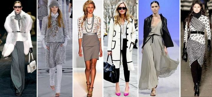 Сочетание в одежде серых оттенков 12