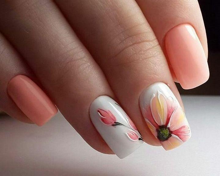 Сочные летние краски в ногтевом дизайне 18