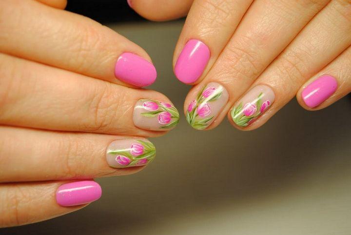 Сочные летние краски в ногтевом дизайне 21