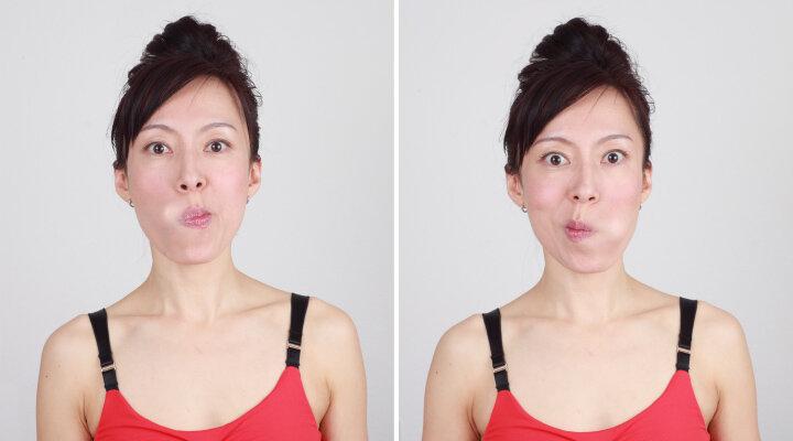Упражнения, чтобы лицо не выглядело худым 2